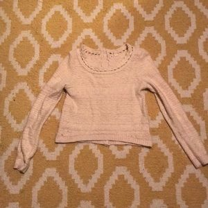 Moth Crop Button back sweater